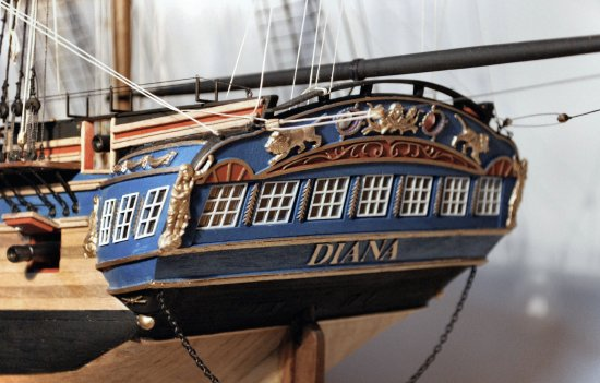 Stern gallery of the HMS Diana
