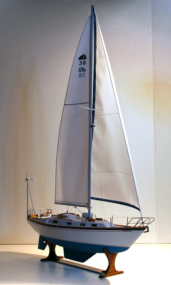 image of model sailboat
