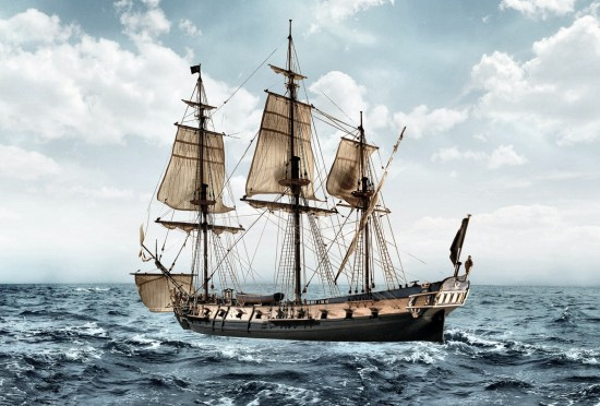 Image of Blackbeard's vessel