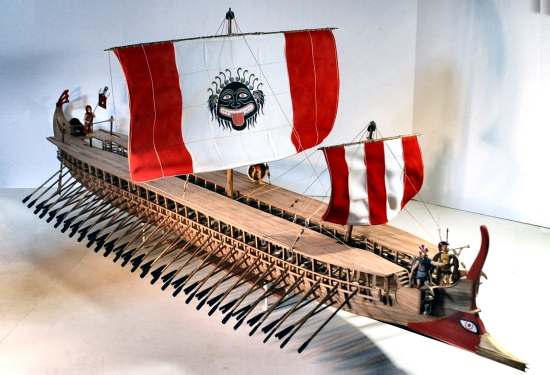 Image of model trireme