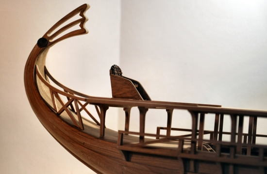 Stern details of trireme