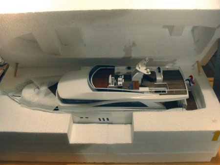 Styrofoam model ship travel case