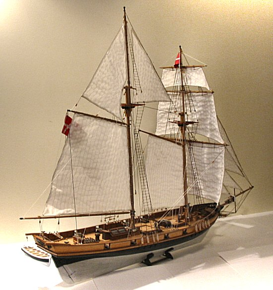 Baltimore Clipper model - Danish registry