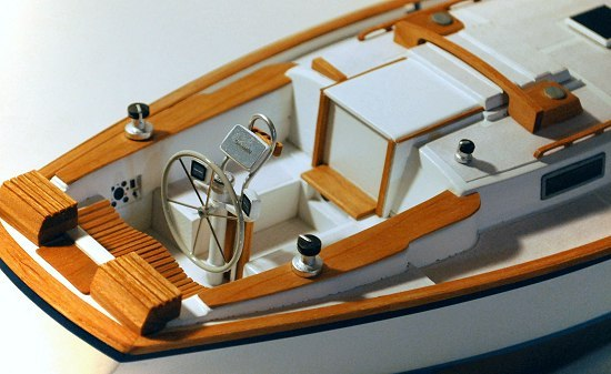 Helm of sailboat model