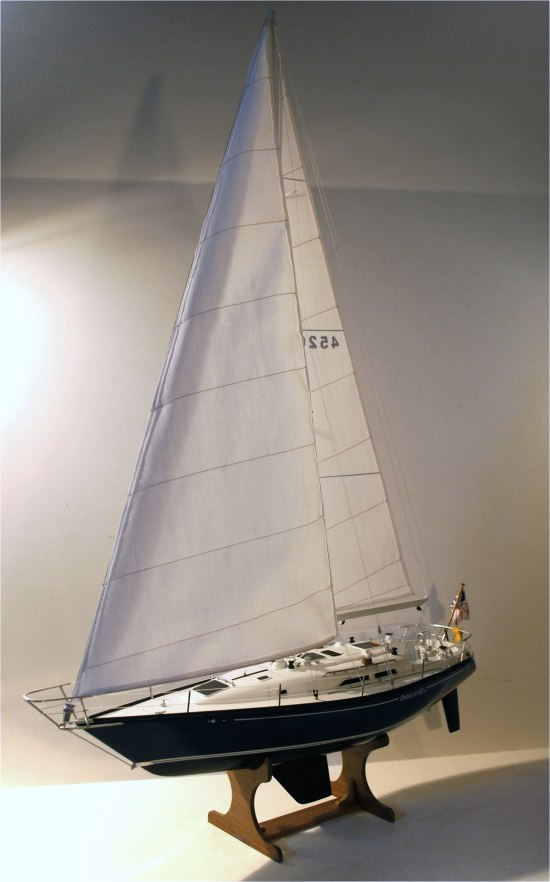 C&C 40 - custom model yacht - full sail