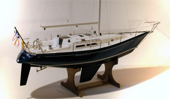 C&C 40 boat model - starboard, no sails
