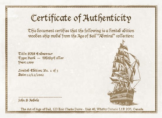 Sample Certificate of