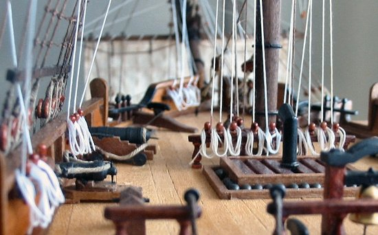 Frigate model - USS Constellation forecastle deck view