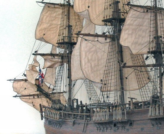 HMS Endeavour model port view