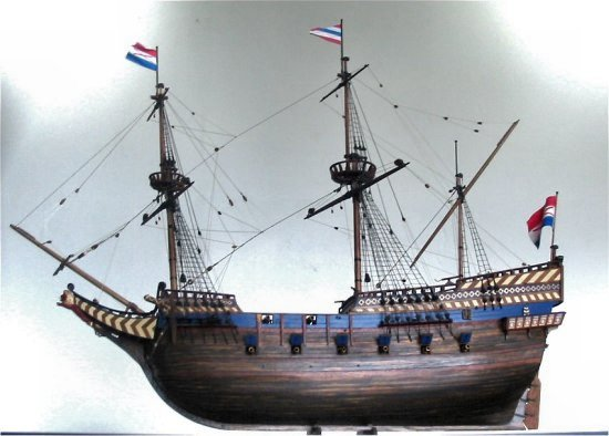 Image of Dutch galleon ship model