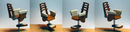 Image of a model helm chair