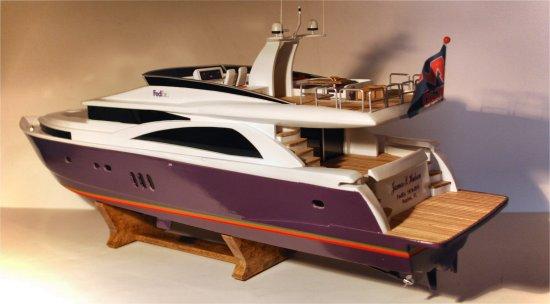 """2010 custom """"FedEx"""" luxury cruiser model. The Johnson 75 was introduced in ..."""