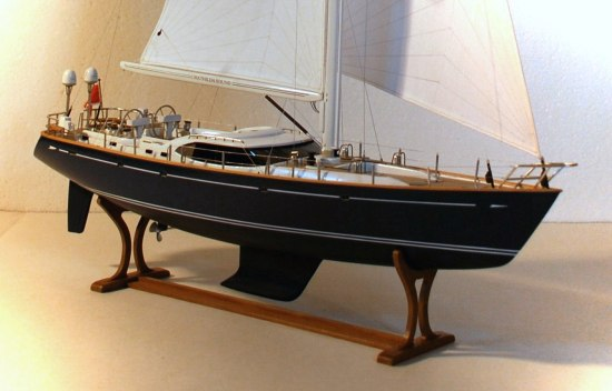 starboard view of model