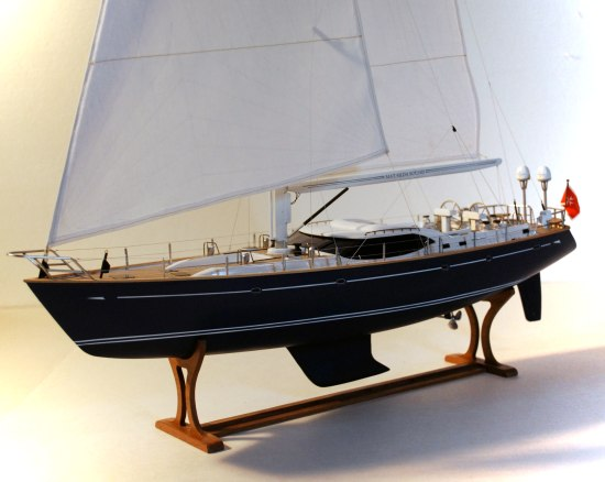 "Oyster 82 sailboat model. Oyster 82' 'Mathilda Sound"" model built from ..."