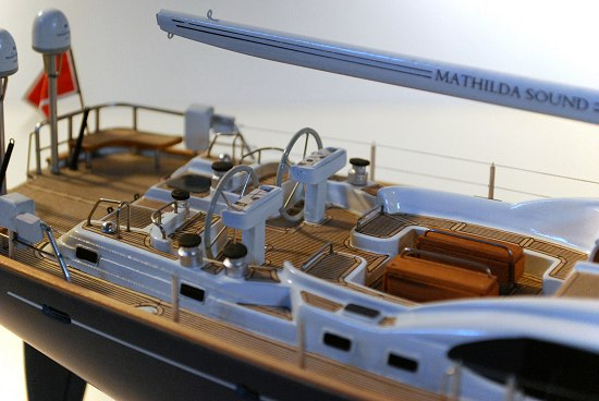 Image of yacht decking and helm