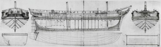 Image of old ship drawing