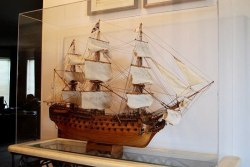 image of model ship